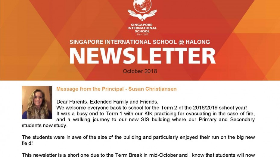 Newsletter October 2018 - SIS@Ha Long - EN_Page_1