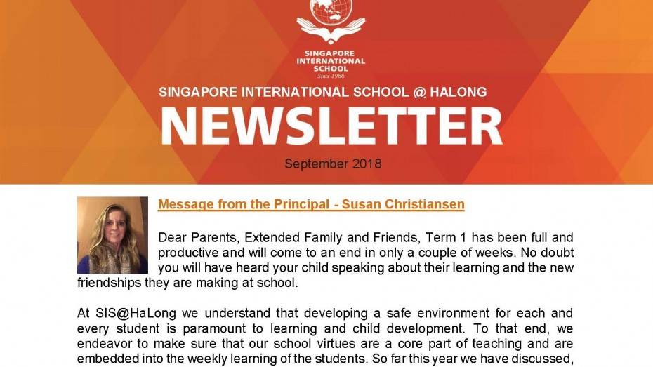 Newsletter September 2018 - SIS@Ha Long - EN_Page_1